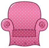 粉红色加点的椅子clipart 库存照片