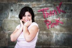 粉红色认为 免版税库存照片