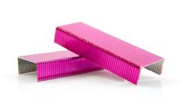 粉红色钉书针 库存照片