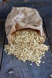 整粒燕麦剥落 免版税库存图片