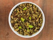 整粒超级食物用扁豆和菜 免版税库存图片
