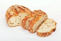 整粒面包用燕麦和坚果 库存图片