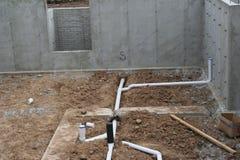 粗砺在测量深度2的地下室 库存图片