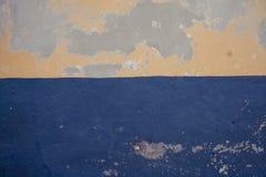 粗砺地中海黄色蓝色的纹理 图库摄影