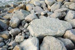 粗砺的岩石土地地面纹理 免版税库存图片