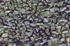 粗砺的岩石墙壁 库存照片