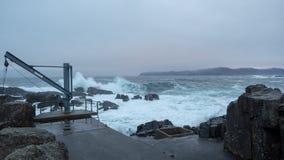 粗砺的波浪北海西部挪威 免版税库存照片