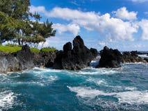 粗砺的波浪在夏威夷3 库存图片