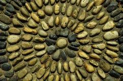 粗砺的石渣有圈子纹理背景 库存图片