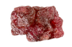 粗砺的自然未割减的尖晶石宝石 免版税库存图片
