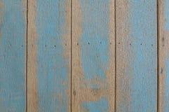 粗砺的蓝色木墙壁 免版税图库摄影