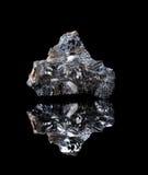 粗砺的Galenite矿物 免版税库存照片