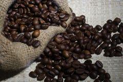 粗粒咖啡豆 库存照片