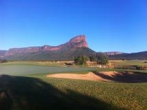 粗糙传奇的高尔夫球,南非 免版税图库摄影