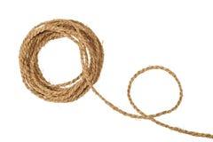 粗糙的卷纤维自然绳索 免版税库存照片
