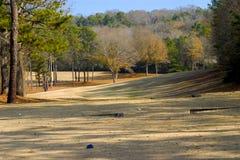 粗糙的高尔夫球冬天 免版税库存照片