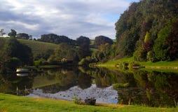 粗糙的Fishing湖 图库摄影