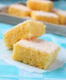 粗面粉蛋糕用椰子 免版税库存照片