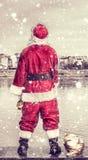粗鲁的圣诞老人 库存图片