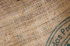 粗麻布咖啡大袋 免版税图库摄影