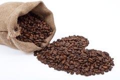粗麻布咖啡重点大袋 免版税库存照片