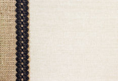 粗麻布和织品 免版税库存图片
