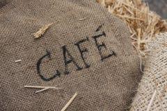 粗麻布咖啡大袋 库存图片
