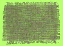 粗麻布织品被撕毁的边缘 图库摄影