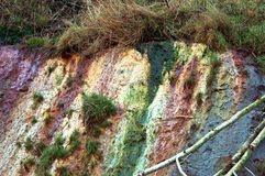 粘土,混杂的黏土,海峭壁 免版税库存图片