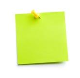 粘性绿色附注 免版税库存图片