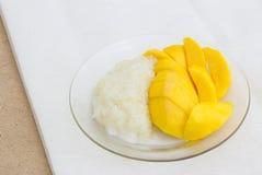 粘性芒果米 免版税图库摄影