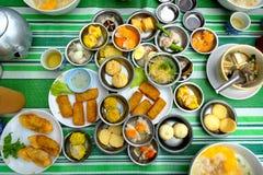 粤式点心地方早餐在南泰国 库存照片