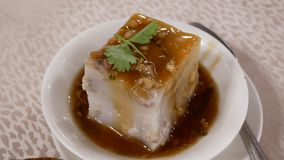 粤式点心的行动在桌上的在中国料理店里面 影视素材