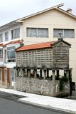 粮仓horreo西方北部的西班牙 免版税库存图片