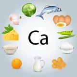 粮食富有在钙上 库存例证