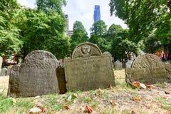 粮仓坟场-波士顿,马萨诸塞 库存图片