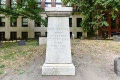 粮仓坟场-波士顿,马萨诸塞 库存照片