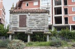 粮仓horreo西方北部的西班牙 库存图片