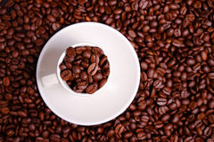 精力充沛咖啡杯 免版税库存照片