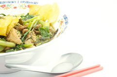 精加工白米汤面素食主义者 库存图片
