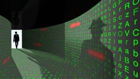 精华黑客进入密码走廊 库存图片