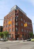 精品店威廉斯堡部分的Wythe旅馆在布鲁克林 库存图片
