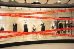 精品店最终时装模特销售额视窗 库存图片