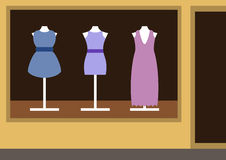 精品店,妇女的衣物商店 免版税库存图片