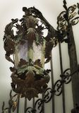 精妙的古色古香的街灯 免版税库存图片