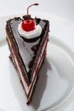 精妙的巧克力蛋糕 图库摄影
