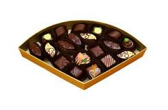 精妙的手工制造巧克力 库存图片
