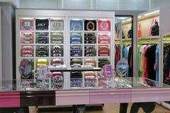 精妙的衣物商店在台北101购物的区 免版税库存照片