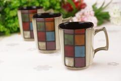 精妙陶瓷的杯子 库存图片
