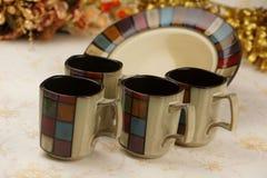 精妙陶瓷的杯子 免版税图库摄影